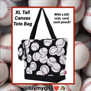 Handbags - XL Baseball Tote Bag